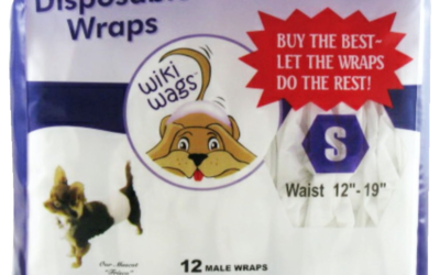 Wiki Wags Brand – Male Dog Disposable Wraps (Bellybands) – Award-Winning Product