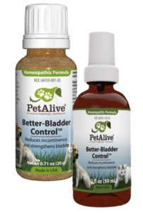 When your beloved pet canine or feline is suffering from incontinence problems, it can cause terrible inconveniences to your family. The best thing to do, without having to see a doctor or use prescription medication is PetAlive's Better Bladder Control – a homeopathic formula that temporarily relieves symptoms of incontinence.