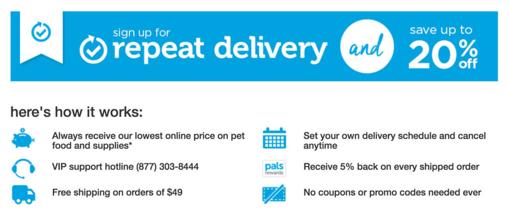 Pet Repeat Delivery by Petco